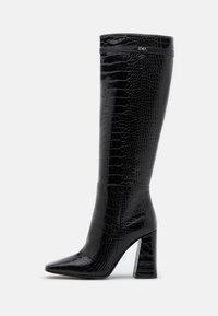 KARL LAGERFELD - LEG BOOT EXOTIK - Kozačky na vysokém podpatku - black - 1