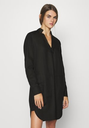 MILARY V NECK SHIRT DRESS L\S - Kjole - black