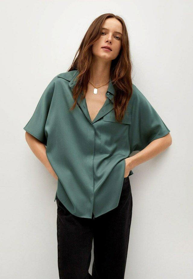 MARITA - Button-down blouse - groen