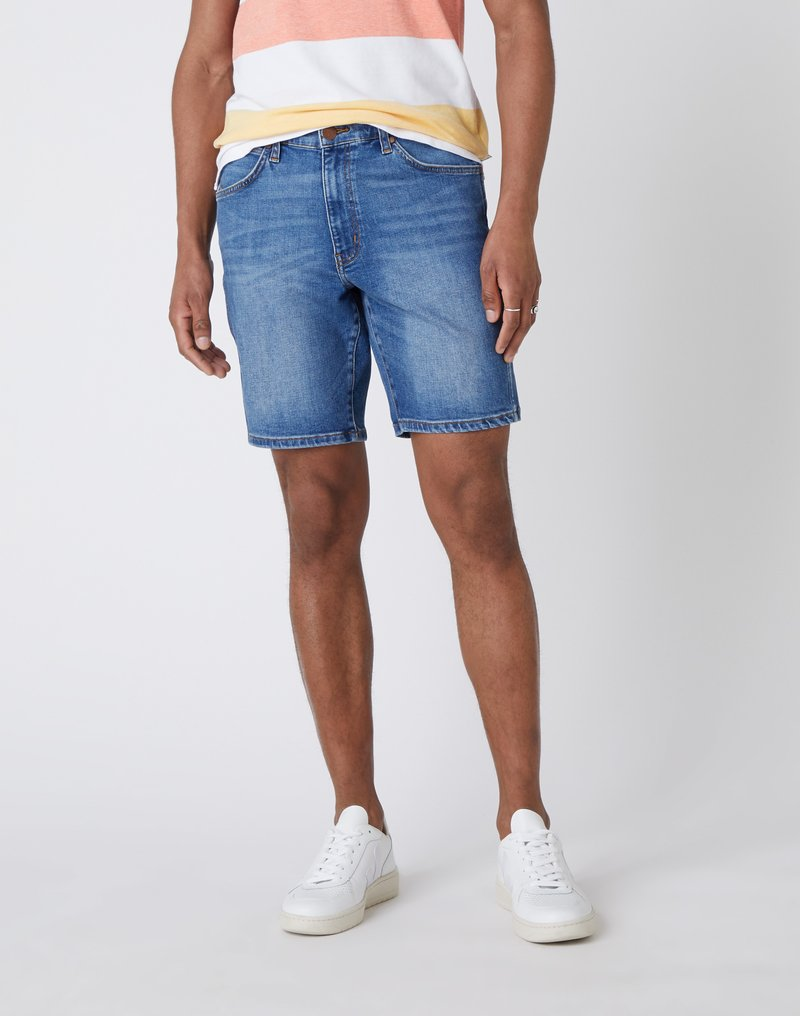 Wrangler - 5 PKT SHORT - Szorty jeansowe - light fever