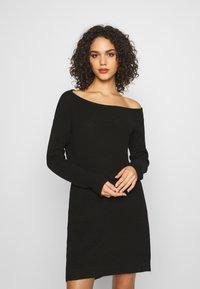 Even&Odd - Vestido de punto - black - 0