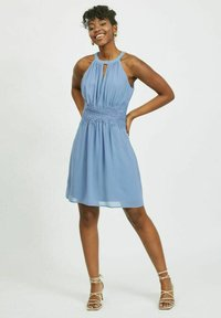 Vila - VIMILINA HALTERNECK - Cocktail dress / Party dress - colony blue - 1