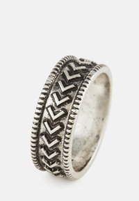 Icon Brand - BRUTALIST PATTERN ROUND - Bague - silver-coloured - 2
