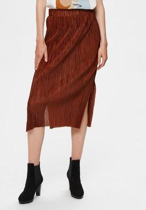 MIDIROCK PLISSEE - A-line skirt - smoked