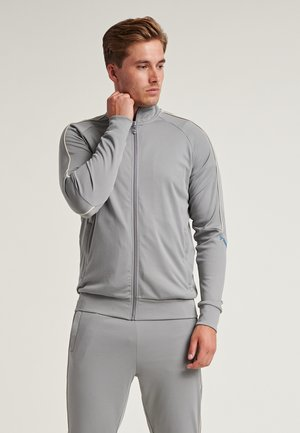 Zip-up hoodie - sharkskin