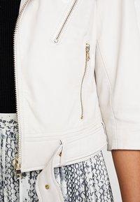 Ibana - Leather jacket - white - 4