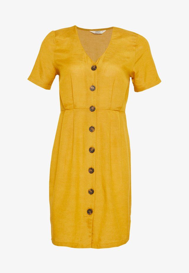 ONLVIVA LIFE BUTTON DRESS - Vapaa-ajan mekko - golden spice