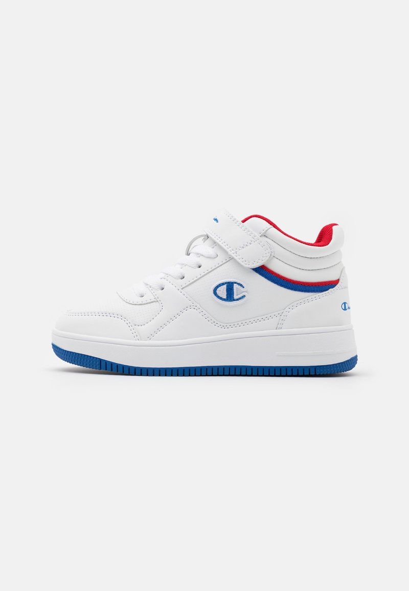 Champion - MID CUT SHOE REBOUND VINTAGE MID UNISEX - Basketballschuh - white/royal blue/red