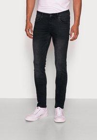 TOM TAILOR DENIM - CULVER STRETCH - Jeans Skinny Fit - used dark stone black/denim grey - 0