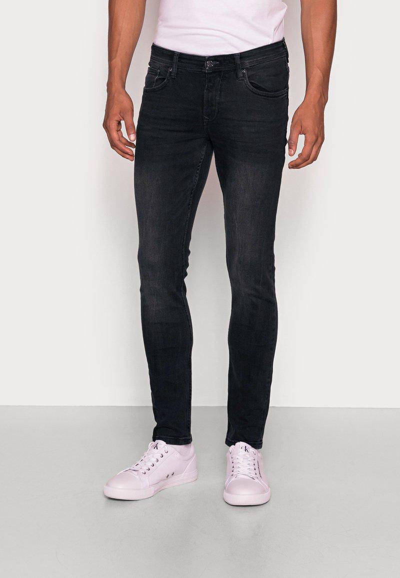 TOM TAILOR DENIM - CULVER STRETCH - Jeans Skinny Fit - used dark stone black/denim grey