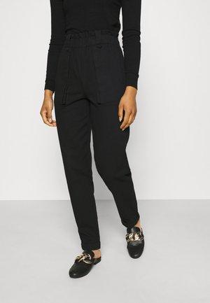 OBJMILENE PANTS  - Trousers - black