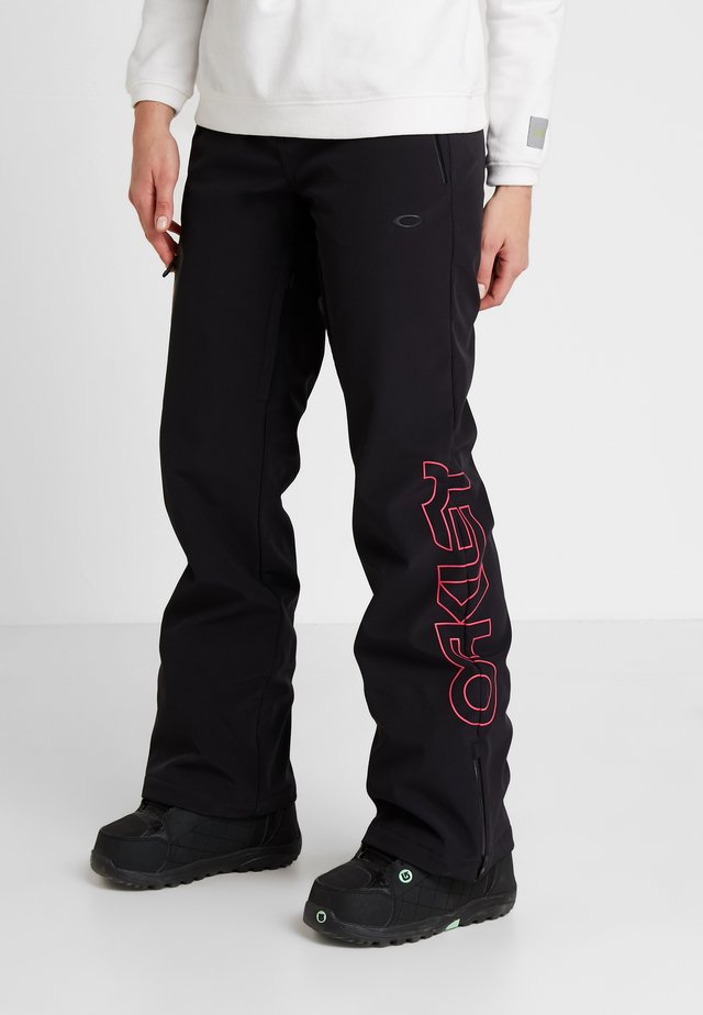 HOURGLASS SOFTSHELL PANT - Talvihousut - blackout