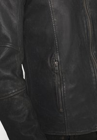 Tigha - TOMAS STONE - Leather jacket - vintage black - 5