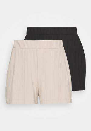 HADLEY  2 PACK - Tracksuit bottoms - black dark/mole dusty light