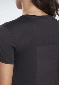 Reebok - RUNNING ESSENTIALS TEE - T-shirt print - black - 3