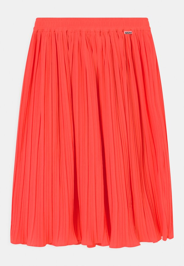 BECKY - A-line skirt - neon coral