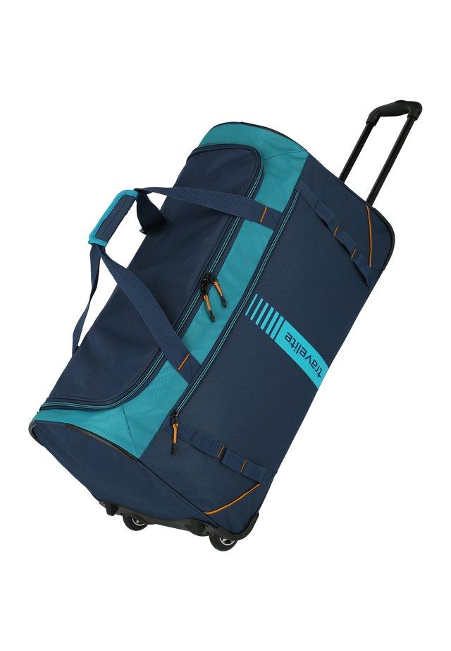 Wheeled suitcase - petrol-orange