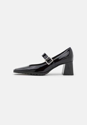 MARY JANE BLOCK HEEL  - Klassiske pumps - black