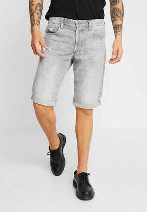 STRAIGHT TAPERED FIT - Denim shorts - sato grey denim/ dusty grey