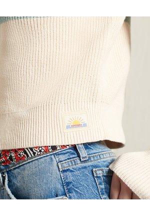 WHITAKER  - Print T-shirt - cream quartz stripe