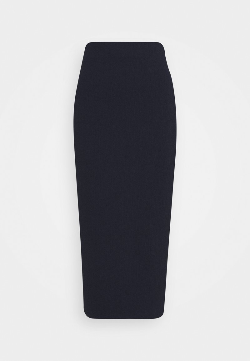 Who What Wear - HIGH WAISTED PENCIL SKIRT - Pencil skirt - navy