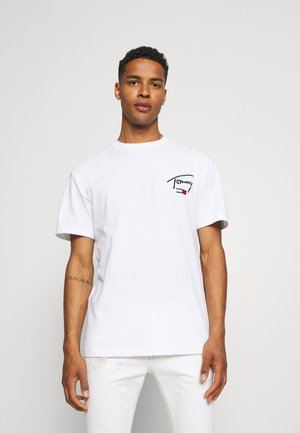 COLLEGIATE BACK LOGO TEE - T-shirt imprimé - white