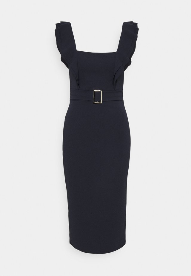 HUNTER BUCKLE DRESS - Robe de soirée - navy