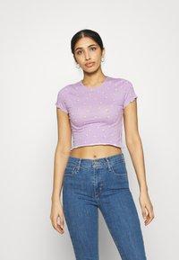 Even&Odd - Print T-shirt - lilac - 0