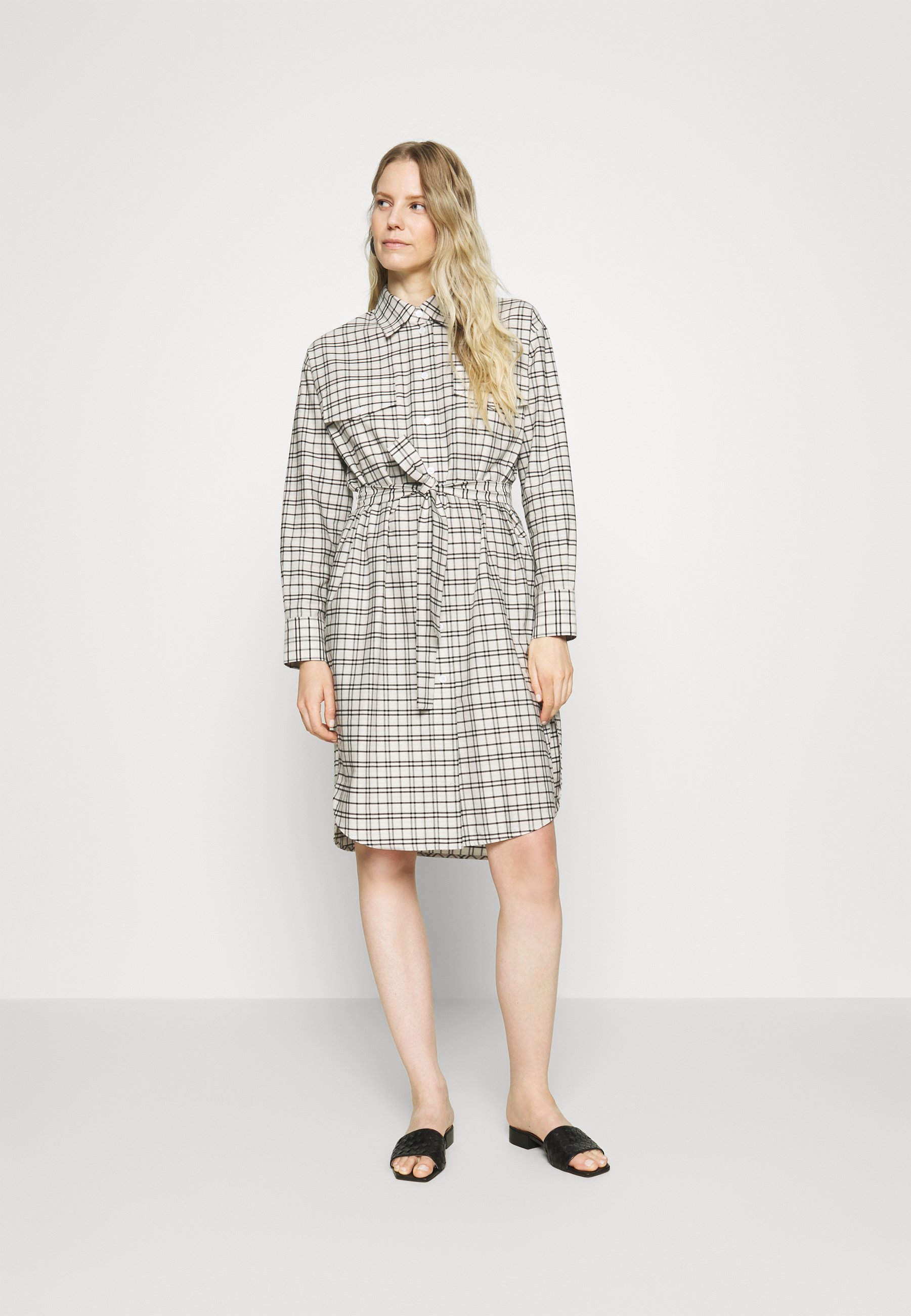 Original Women's Clothing Seidensticker LANGARM Shirt dress offwhite xQXMv76s6