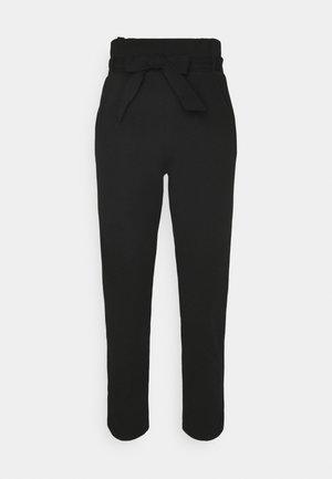 SCUBA PAPERBAG TROUSER - Trousers - black