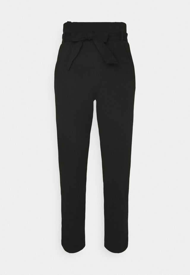 SCUBA PAPERBAG TROUSER - Trousers - black