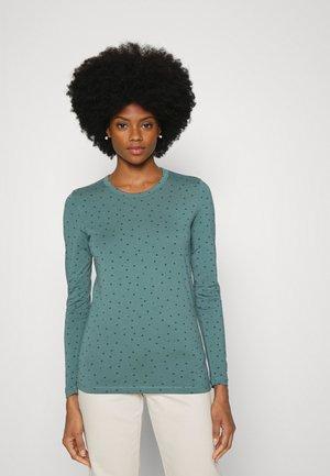 Long sleeved top - teal blue