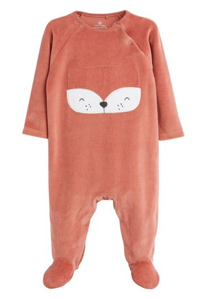 RUST FOX VELOUR SLEEPSUIT (0MTHS-2YRS) - Pyjamas - orange
