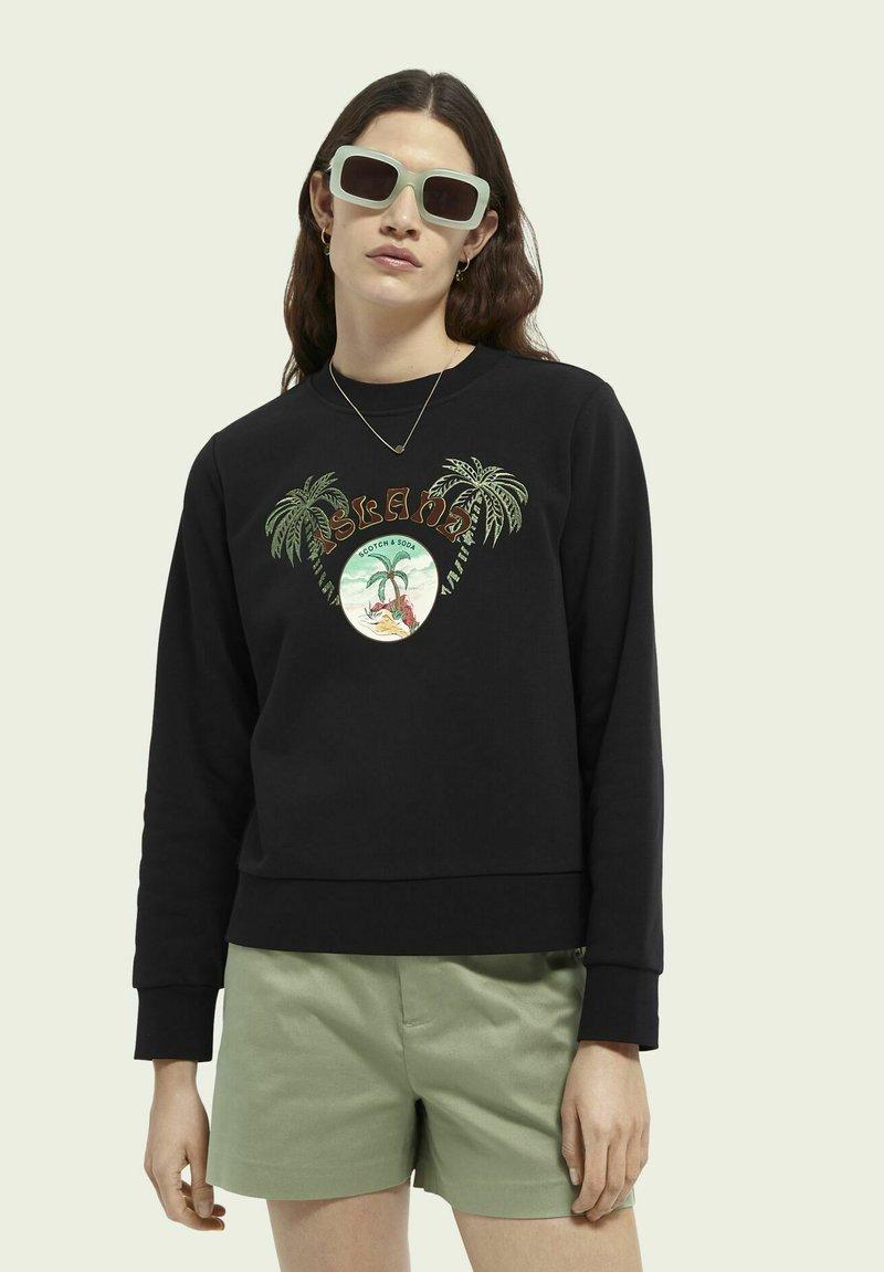 Scotch & Soda - Sweatshirt - black