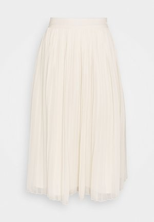 PLEATED SKIRT - A-line skjørt - white