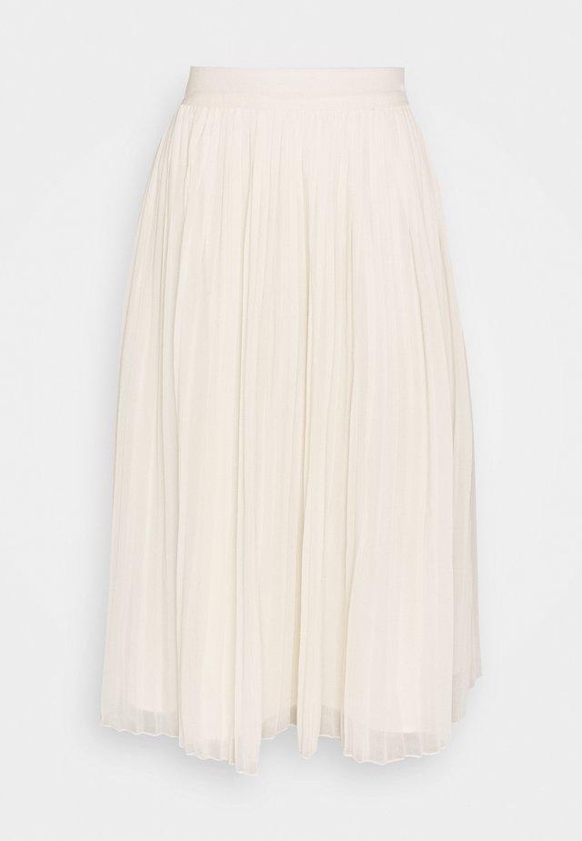 PLEATED SKIRT - A-line skirt - white