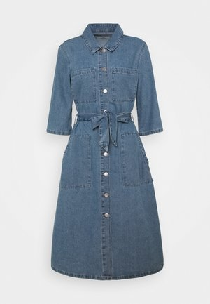 JDYATHENA BELT DRESS - Denim dress - light blue denim
