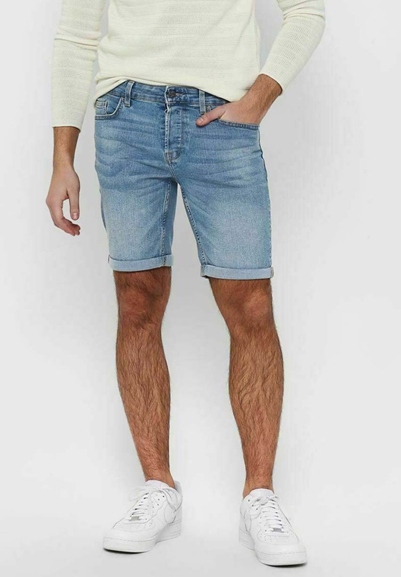 Only & Sons - Jeansshorts - blue denim