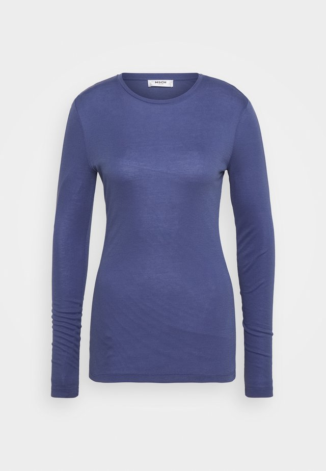 MONA - Long sleeved top - gray blue