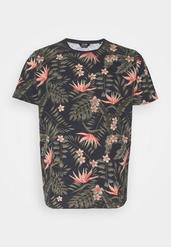 REPEAT - Print T-shirt - navy