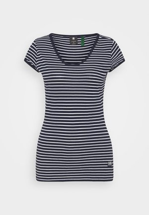 CORE EYBEN SLIM - Basic T-shirt - sartho blue