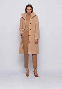 BOSS - Classic coat - light beige