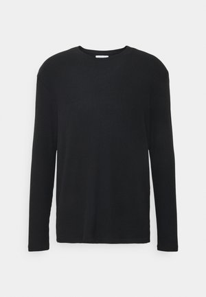 RIBBED LOUNGE TOP - Pyjamasöverdel - black