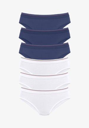 6 PACK - Slip - marine + weiß