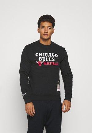 NBA CHICAGO BULLS PRINT CREW - Klubbkläder - black