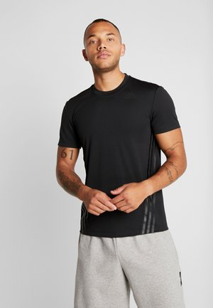 AEROREADY TRAINING SLIM SHORT SLEEVE TEE - T-shirt z nadrukiem - black