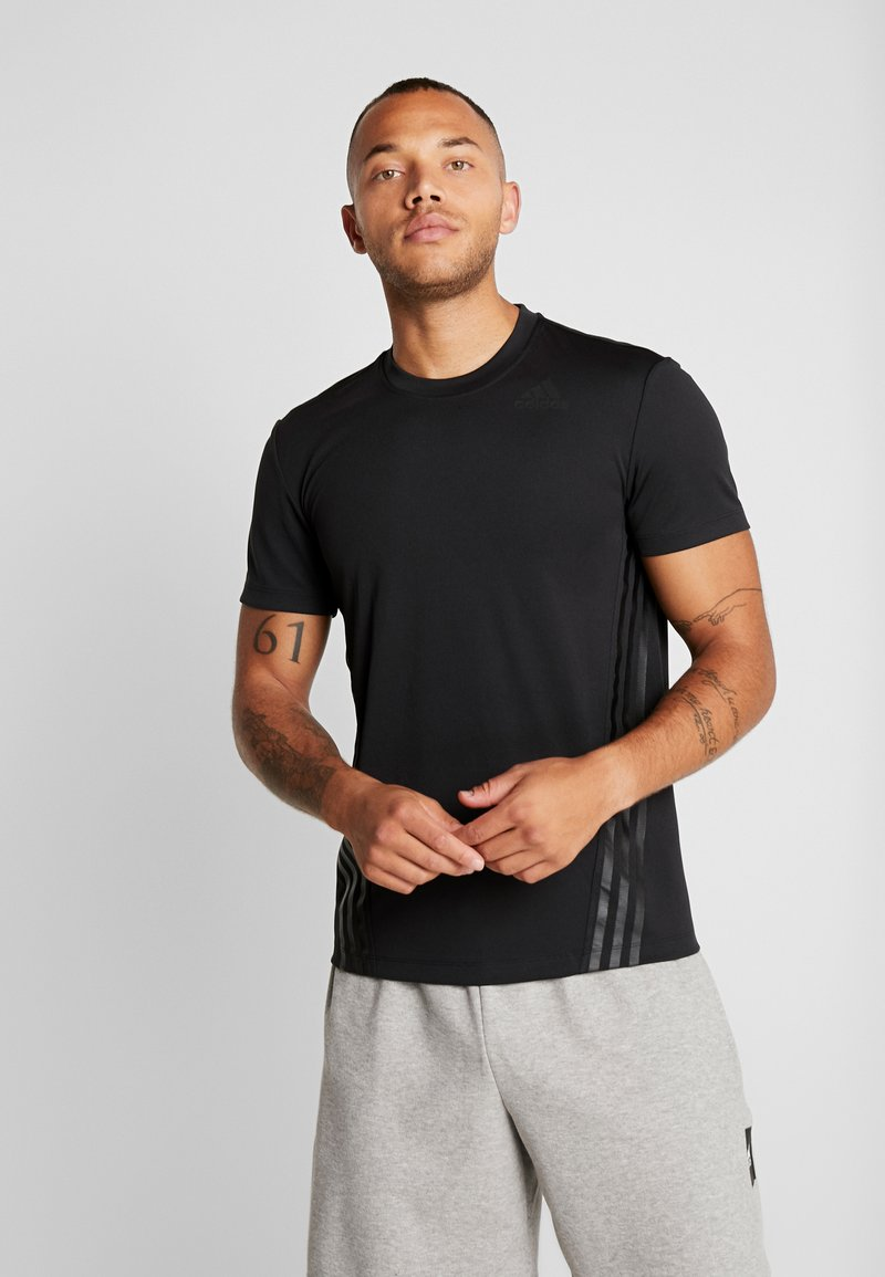 adidas Performance - AEROREADY TRAINING SLIM SHORT SLEEVE TEE - Print T-shirt - black