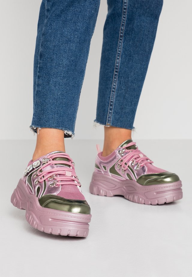 Trainers - pink/khaki