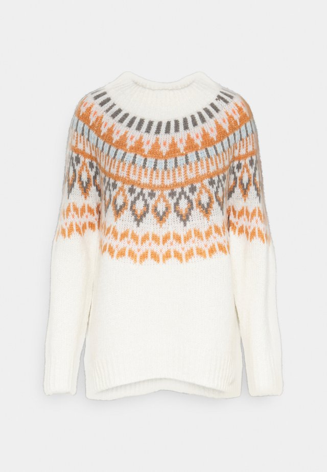 YOKE FAIRISLE MOCKNECK - Stickad tröja - heather frost