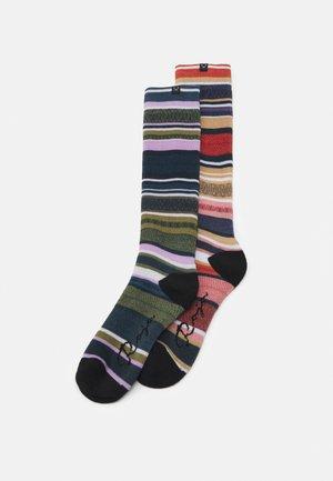 SOCK WOMEN 2 PACK - Knee high socks - marron/neve auburn